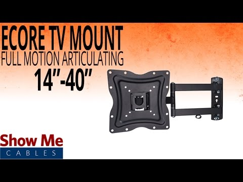 How To Install A Full Motion Articulating TV Mount For TV's Between 14