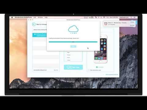 Tutoriel: Transfert des données de sauvegarde iCloud vers appareil iOS