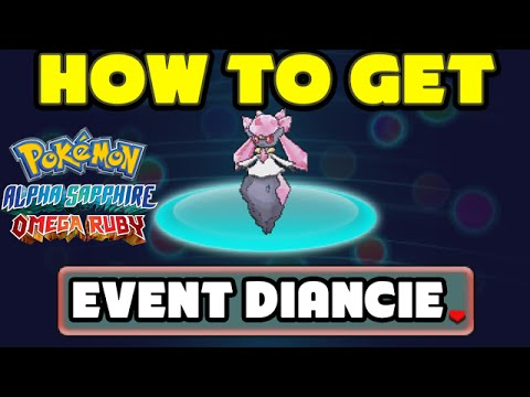 Limited Time Diancie Event! - Pokemon Omega Ruby And Alpha Sapphire