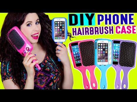 DIY Hairbrush Phone Case   Brush Your Hair With Your iPhone   Take Selfies With Your Hairbrush!