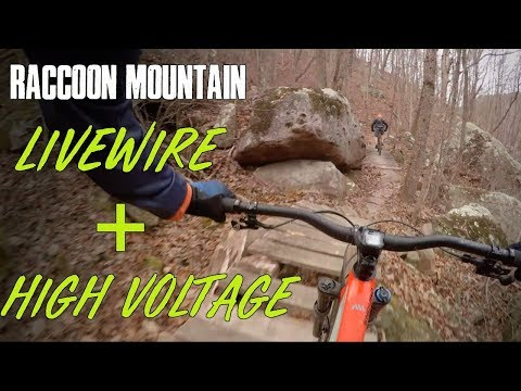These trails run fast! | Livewire & High Voltage, MTB at Raccoon Mountain