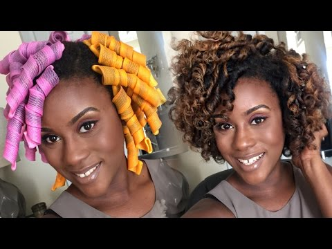 Official Curl Formers Tutorial on Natural Hair | iknowlee