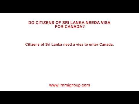 Do citizens of Sri Lanka need a visa for Canada?