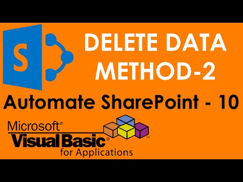 S01E07-Delete data from SharePoint Server using VBA ADO and SQL