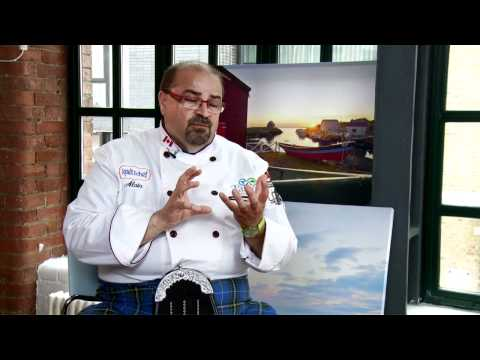 Chef Alain Bosse talks about cooking scallops and food in Nova Scotia