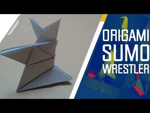 Origami - How to make an easy Origami Sumo Wrestler