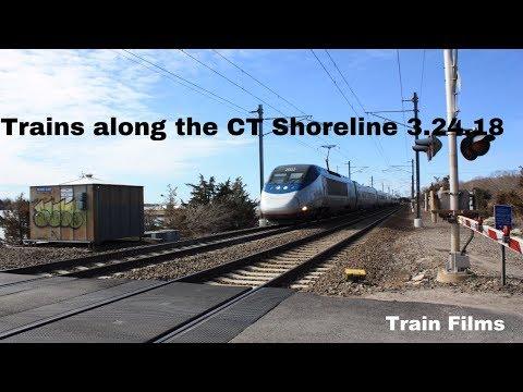 Trains along the CT Shoreline 3.24.18 w/ Horn and Pacing a Regional!