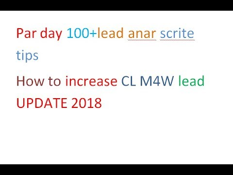 How to Craigslist increase  M4W lead UPDATE 2018!!!Craigslist M4W Section 100% Working System 2018