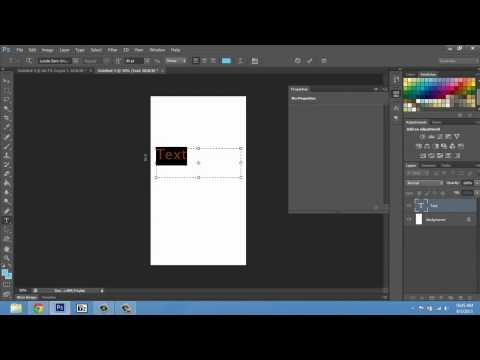 How to Make Fonts Bigger on Photoshop CS4 : Adobe Photoshop Tips