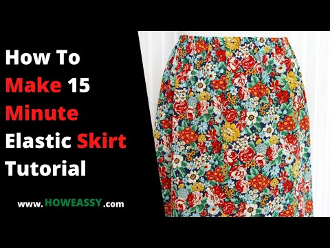 How To Make 15 Minute Elastic Skirt Tutorial