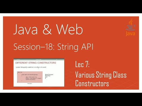 String API in Java | #7 | Various String Class Constructors in Java