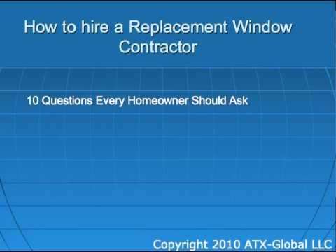How to Hire a Replacement Window Contractor