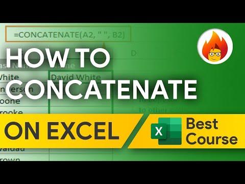 How To Concatenate | Excel 2016