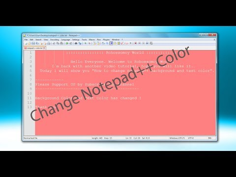 How to Change Notepad++ Background and Font Color || Change Notepad++ Theme || Change Notepad Color