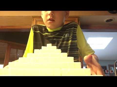 Making a pyramid with 1000 Sugar Cubes!!!!