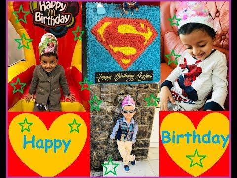 Birthday celebrations   Superman Cake  White Tiger   Kids Bike   Train track set   Birthday fun