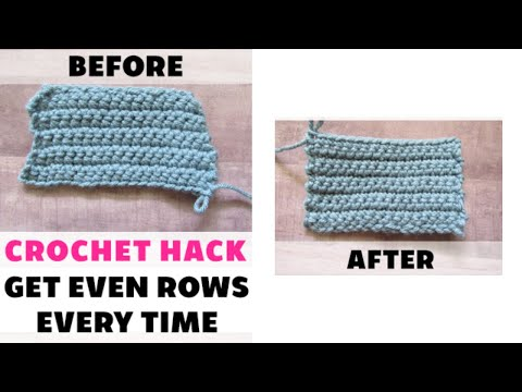 Crochet Tip: Get Even Rows Without Counting Stitches