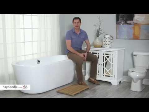 Belham Living Contemporary Teak Shower Mat - Product Review Video
