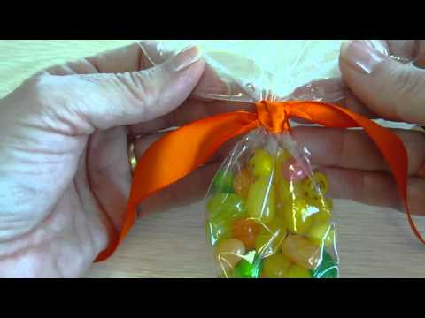Candy Cone Bags with Knot Closure