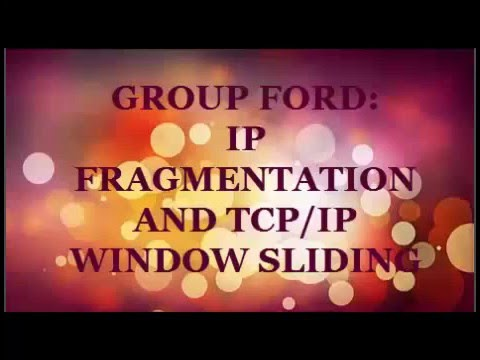 TCP/IP sliding window and IP fragmentation