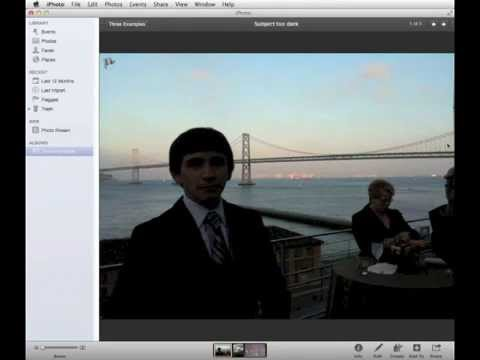 How to fix a bad photo using iPhoto, part 1