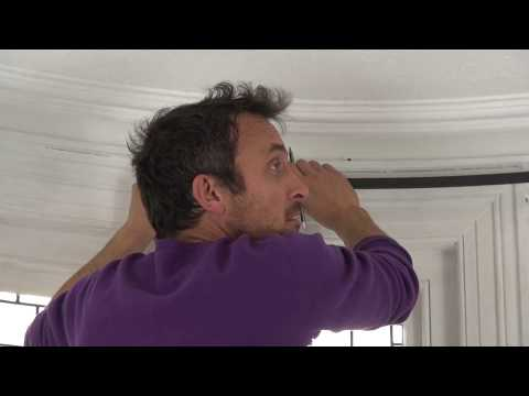 Installing a curved bay window pole