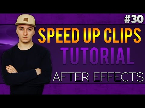 Adobe After Effects CC: How To Speed Up Clips - Tutorial #30