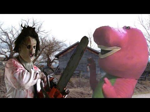 Leatherface Vs Barney The Dinosaur