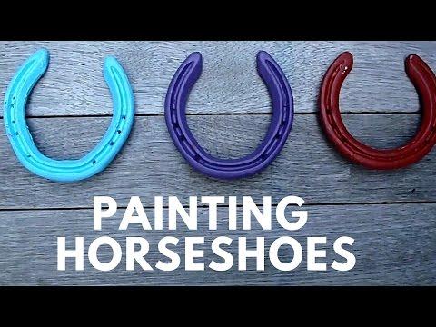 Painting Horseshoes!