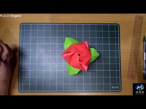Origami Tutorial How To Make an Origami Magic Rose Cube