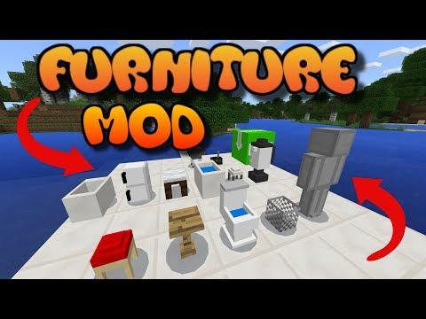 Minecraft Console FURNITURE MOD (COMPUTER, FRIDGE, TABLE, TOILET & MORE) MCPE Addons