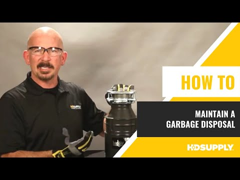 How to Maintain a Garbage Disposal - Maintenance Warehouse - HD Supply Facilities Maintenance