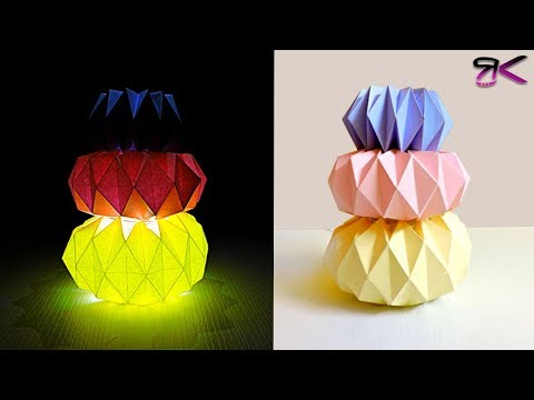 How to make Folded paper lanterns | Latest Origami night lamps | Easy DIY Paper lamps