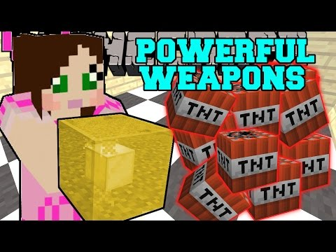 Minecraft: POWERFUL WEAPONS (ROCKET BOX, LIGHTNING BLOCK, SUPER BOW, & GROWING TNT!) Custom Command