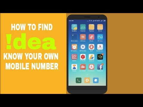 How to Find idea know your own mobile number(video by Sushil das)