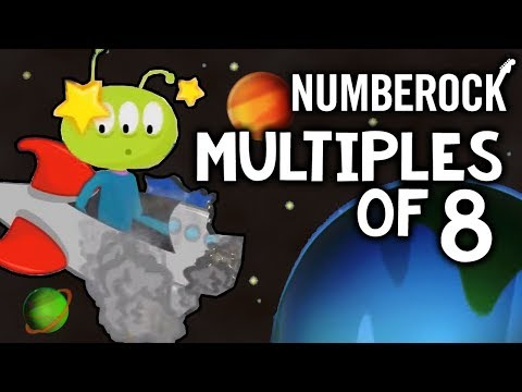 8 Times Table Song: Skip Counting by 8 | Multiplication Song by NUMBEROCK