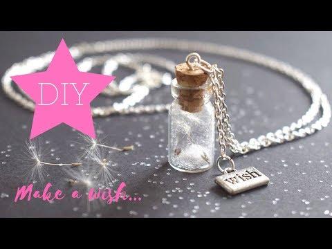 DIY - How To Make Dandelion Wish Bottle Charm Neklace - GIVEAWAY!! (ended)