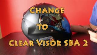 Steelbird SBA 2 visor change