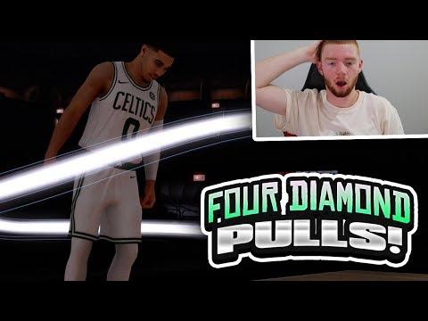 FOUR DIAMOND CELTICS PLAYER PULLS! PLAYOFF MOMENTS PACK OPENING!! (NBA 2K18 MYTEAM)