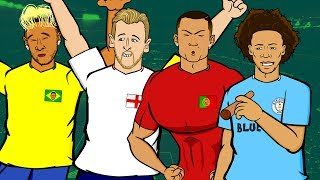 WORLD CUP 2018 GROUP STAGE REACTION! 📺 GOGGLE IN THE BOX 📺 442oons ft Neymar, Kane, Ronaldo!