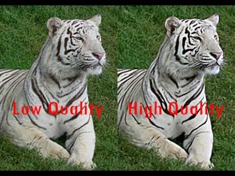 Low to High Resolution/Quality Image/Picture/Photo   100KB to 4M   Photoshop Tutorial  