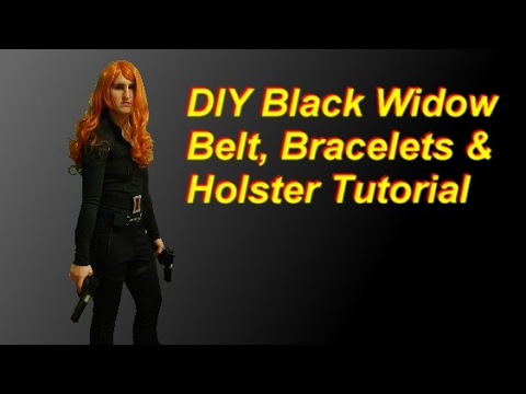DIY Black Widow Costume Part 2: belt, holster, bracelets, gloves