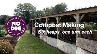Compost Making (2) Charles explains his 7 bays 2019