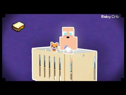 ✔ Minecraft: How to make a Baby Crib