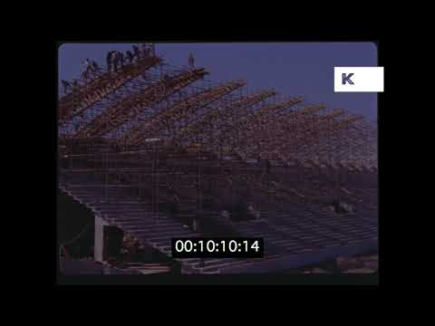 1950s, 1960s Egypt Stadium Construction from 35mm | Kinolibrary