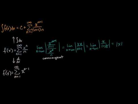 Interval of convergence for derivative and integral | Series | AP Calculus BC | Khan Academy