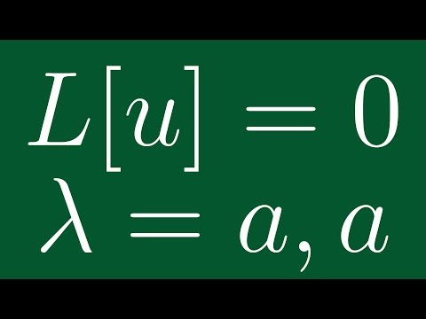 Linear ODEs with Constant Coefficients: Repeated Roots