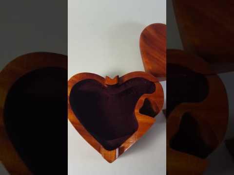 Heart Shaped Trinket Jewelry Box For Sale on Ebay