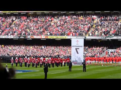 Wales V France 6Nations Rugby Grand Slam - National Anthems - 17th March 2012