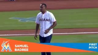 Samuel Badree swaps cricket for baseball!